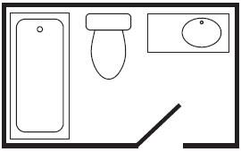 FULL BATH SHOWER/TUB COMBO